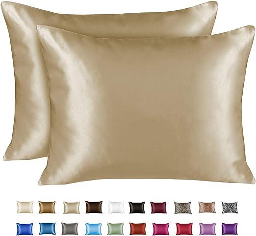 Amazon Com Shopbedding Luxury Satin Pillowcase For Hair Queen