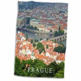 City of Prague cityscape view - Vltava river - Charles bridge - Czech republic travel souvenir towel is great to use in the kitchen, bathroom or gym. This 15 by 22 inch, hand/sports towel allows you to customize your room with a special design or col...