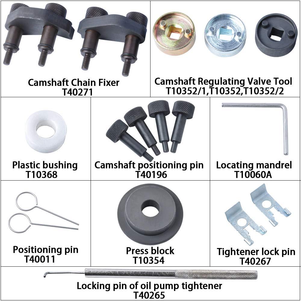 MIKKUPPA Engine Camshaft Locking Alignment Timing Tool Kit for Audi VW Skoda VAG 1.8 2.0 TFSI EA888 SF0233 by MIKKUPPA (Image #2)