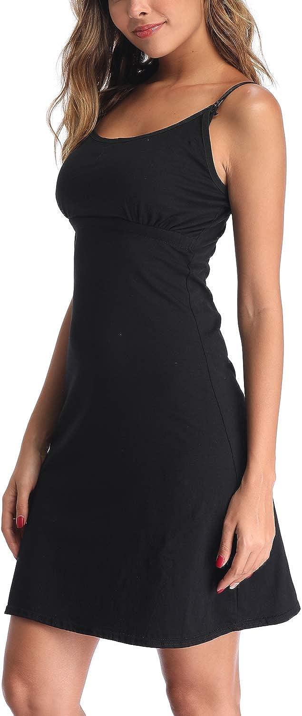 Derssity Umstandskleid Still-Nachthemd Schwangerschaft Stillen Nachtw/äsche Krankenhauskleid Chemise