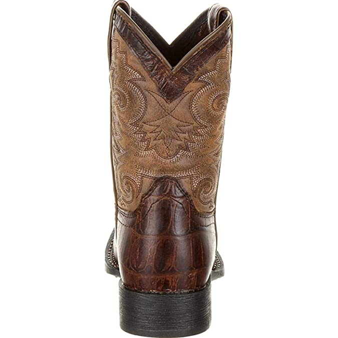 Durango Lil/' Mustang Little Kids Western Saddle Boot Square toe Full-grain