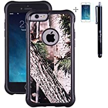 """iPhone 6 Case, True Color® Forest Hunter Real HD Tree Camo Emboss Printed Impact Resistant TPU Protective Anti-slip Grip Snap-On Soft Rugged Cover for iPhone 6 (4.7"""") [True Impact Series] + FREE Stylus and Screen Protector"""