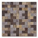 Peel Stick Kitchen Backsplash Tile, Self-Adhesive Tiles Wall Decorative (Rectangle, 5 Sheets)