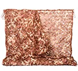 NINAT Desert Camo Netting 13ft x 16.5ft Camouflage Net Military for Camping Hunting Shooting Sunscreen Nets