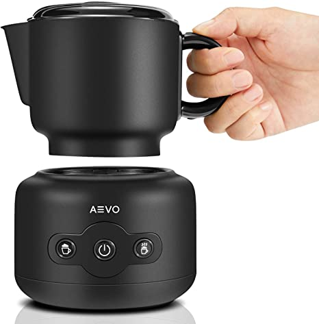 AEVO Automatic Milk Frother Machine Electric Milk Warmer Foam Maker Whisk Mixed