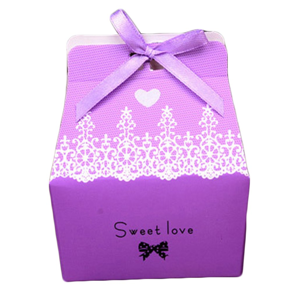 Amazon.com : MuLuo 50pcs Wedding Favor chocolat Candy Box with ...