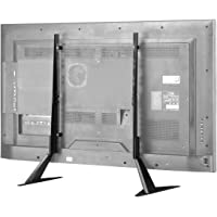 Suptek Universal TV Stand Table Top for Most 22 to 65 inch LCD Flat Screen TV, VESA up to 800 by 400mm, Black ML1760