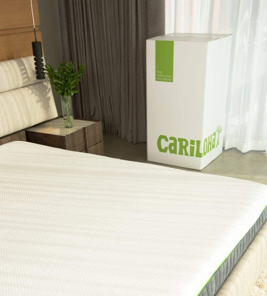 Cariloha Luxury Bamboo Mattress – Advanced Side-Wedge Support Signature Bamboo Comfort Foam – Luxury Memory Foam – Flex Flow Dual Density Base Foam – 10 Year Warranty Twin