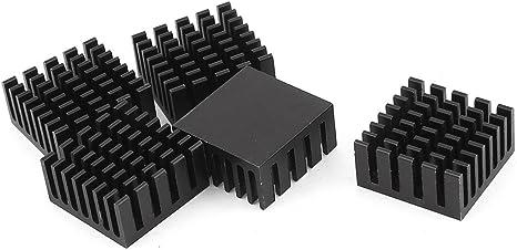 uxcell Black Aluminum Radiator Heat Sink Heatsink 60mm x 60mm x 10mm