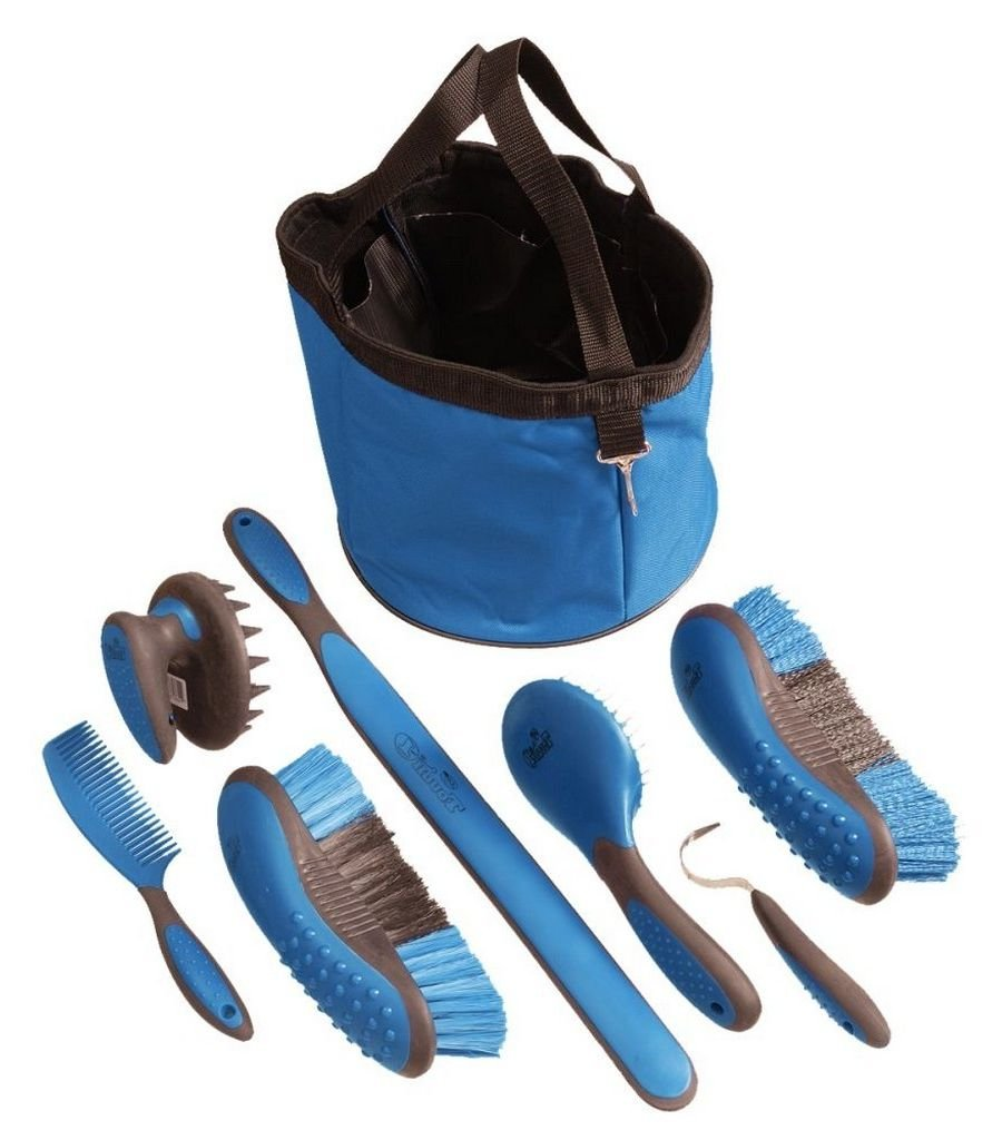 Tough 1 Great Grip Grooming Package (8-Piece), bluee
