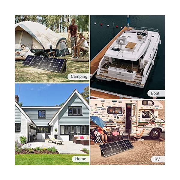 PowerOak Faltbares Solarpanel SP120 - Solarmodul für PowerOak AC50S/EB150/EB240/AC200P Tragbare Powerstation 120W…