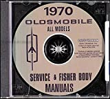 COMPLETE & UNABRIDGED 1970 OLDSMOBILE FACTORY REPAIR SHOP & SERVICE MANUAL CD - INCLUDES F-85, Cutlass, Supreme, 442, Custom Vista-Cruiser, Delta 88, Custom 88, Delta Royale 88, Ninety Eight, 98 Luxury, Toronado, Deluxe OLDS 70