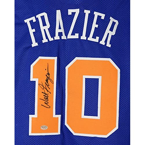 low priced 1a03b d3aa5 Walt Frazier New York Knicks Signed Autographed Custom Blue ...