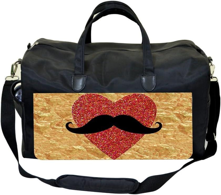 Heart Mustache-Foil PRINT DESIGN Gym Bag