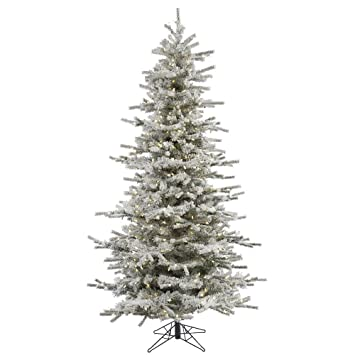 Amazoncom Vickerman 75 Flocked Slim Sierra Artificial Christmas