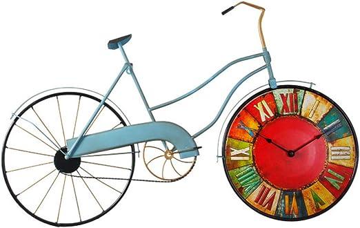 JRMU Bicicleta Rústica Reloj de Pared, Vintage Hierro & Madera ...