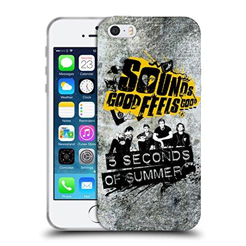 Officiel 5 Seconds Of Summer Grunge Léger Sonnez Bonnes Sensations Bonnes Étui Coque en Gel molle pour Apple iPhone 5 / 5s / SE