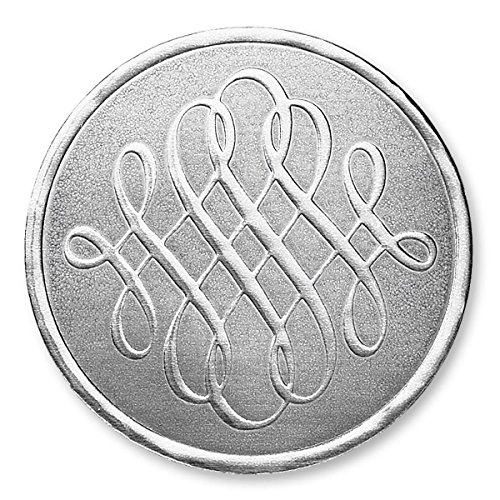 Luxury Swirls Embossed Silver Foil Seals, 32 Count