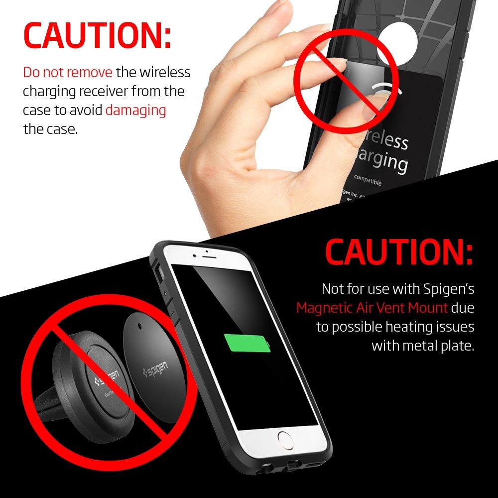 Spigen SGP11560 - Funda para iPhone 6 / 6S, Plata/Negro: Amazon.es: Electrónica