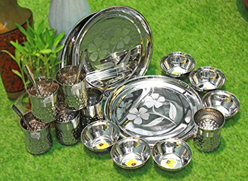 CwC pure stainless steel camping perfect dinner ware - Pure Silver Dinnerware