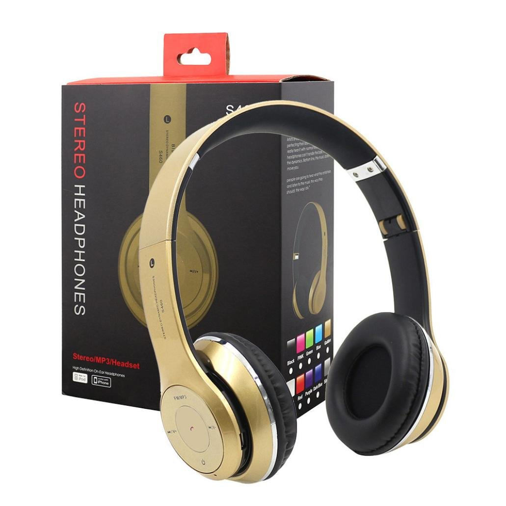 Dreamyth Wireless Headphones BT4.1 Headset Noise Cancelling Over Ear With Microphone Durable (Gold)