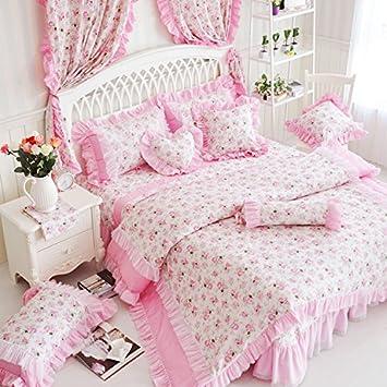 Fadfay Home Textil Romantic Pink Rosa Prinzessin Bettwäsche