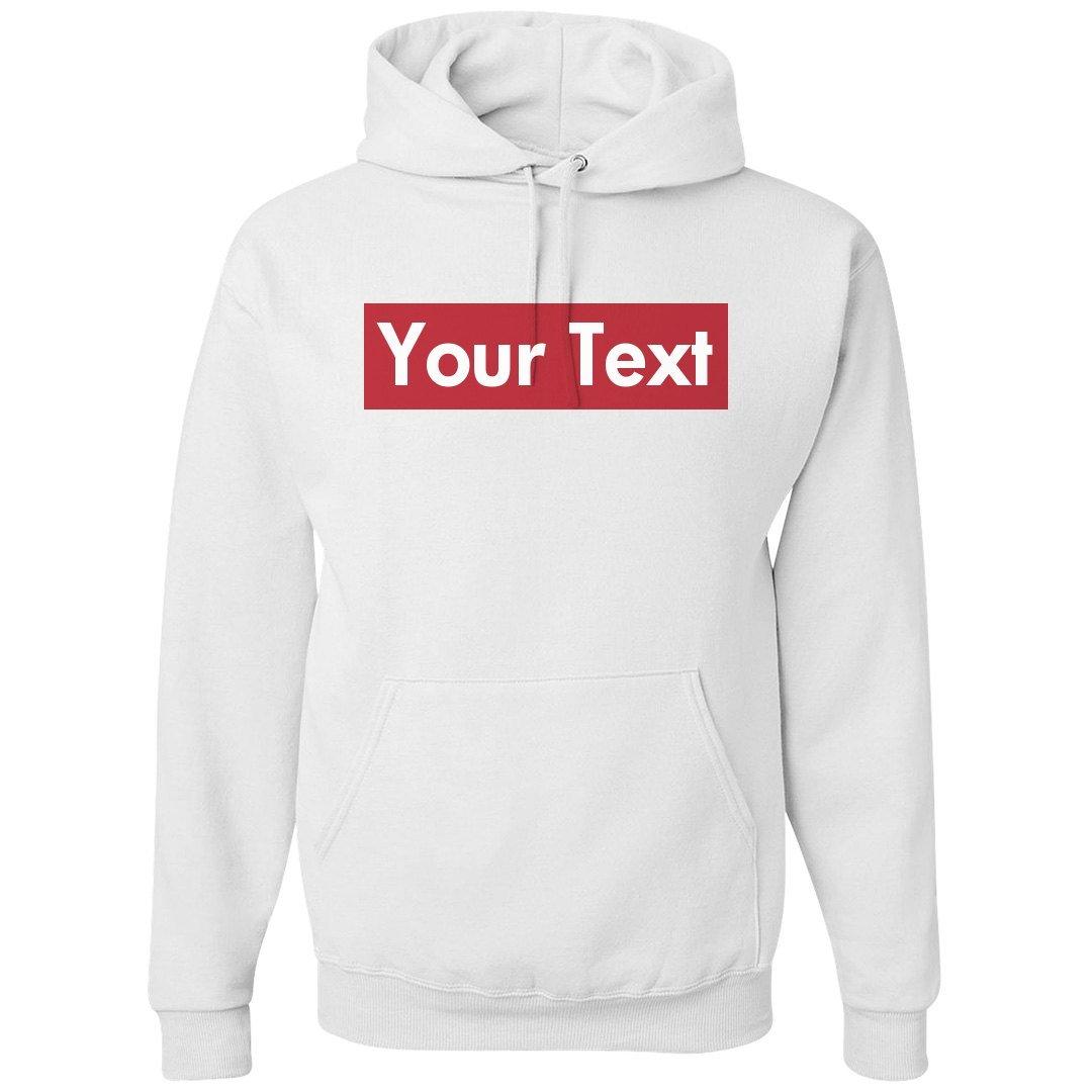 cf23d9380 Top2: Custom Supreme Your Text Here: Unisex Gildan Heavyweight Hoodie