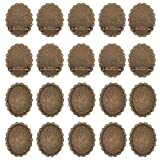 PandaHall 10 Pcs Alloy Brooch Clasps Pin Disk Base Pad Bezel Blank Cabochon Trays Backs Bar 40x30mm for Badge, Corsage, Name Tags and Jewelry Craft Making Antique Bronze