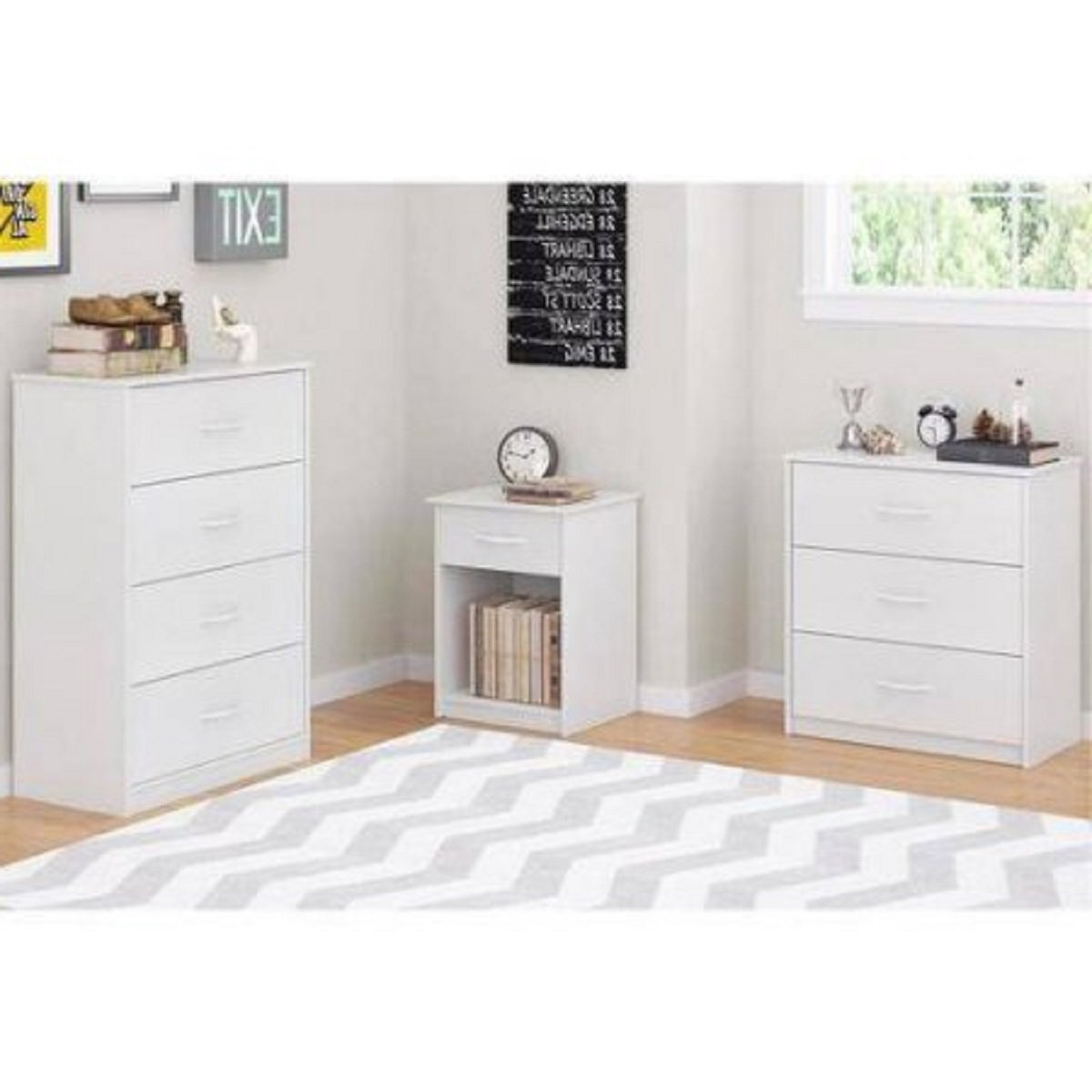 Mainstays 3-Drawer Dresser 3 easy-glide drawers (White) by Mainstay* (Image #4)