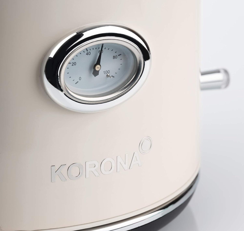 Korona Retro Hervidor de agua 1.7 litros Beige 2200 W