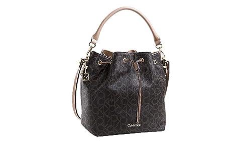 Amazon.com: Calvin Klein Womens Jordania café Logo cordón ...