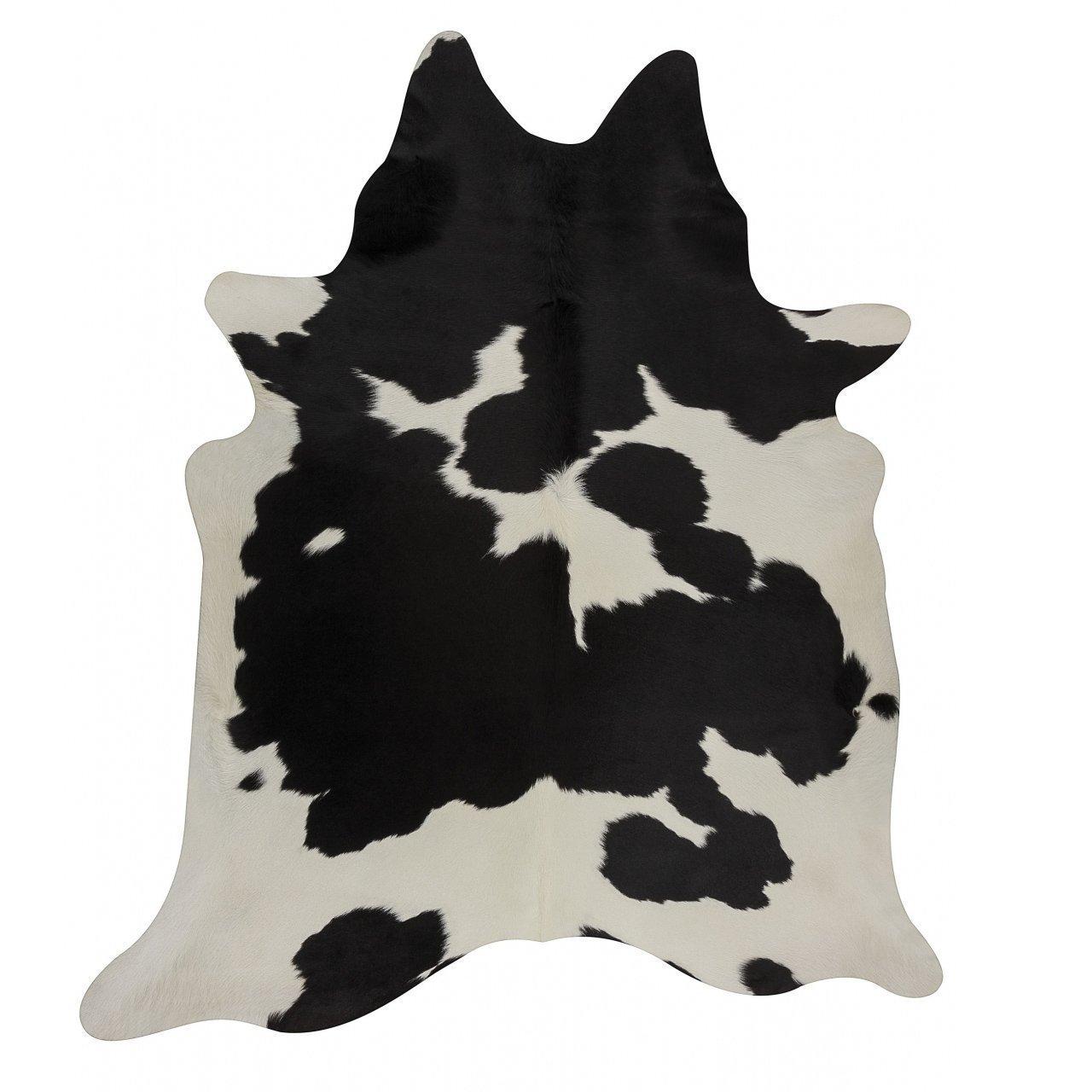 Splendid Decor Black White Cowhide Rug Black Cow Skin Leather Rug - Pure Cowhide Rug (5 X 4)