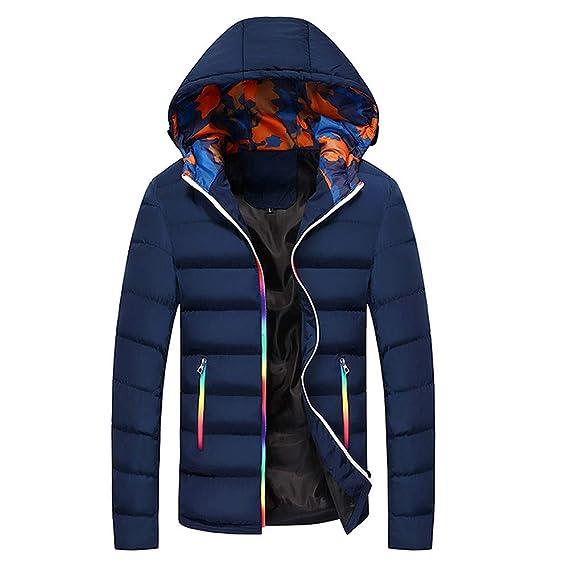 Yvelands Abrigos para Hombre Venta de Invierno Ocasional Cálido con Capucha Invierno Cambio de Color Cremallera Outwear Top Blusa: Amazon.es: Ropa y ...