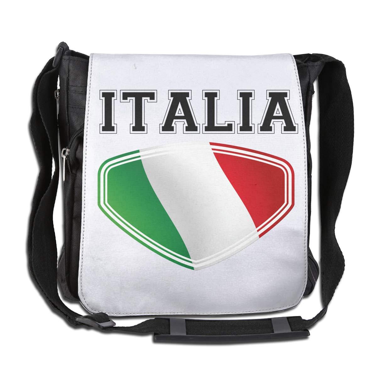 LRHUI Italia Italy Italian Flag Unisex Multifunction Narrow Single Shoulder Bag Diagonal School Bag
