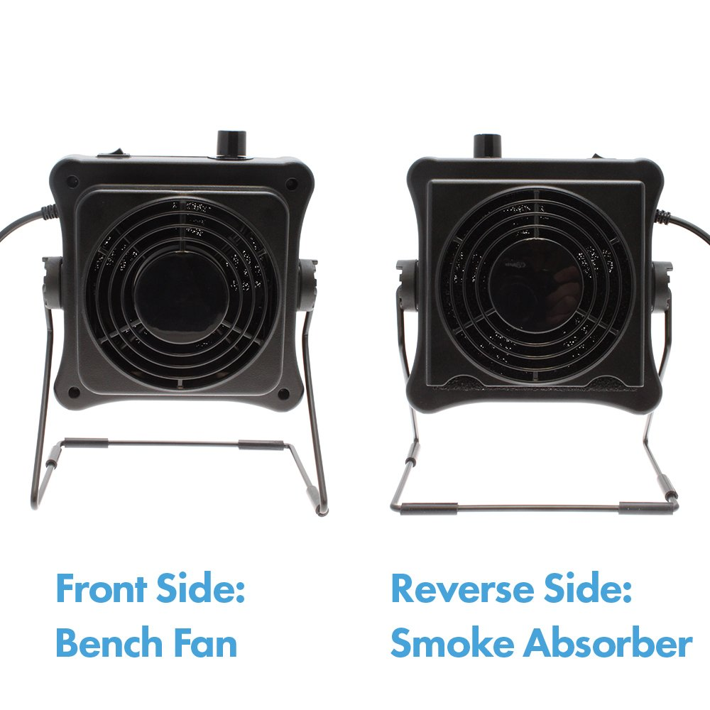Dual Function Bench Fan and Smoke Absorber