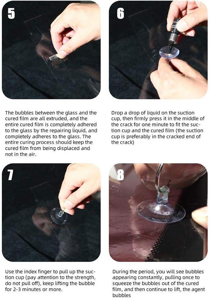 Glass Crack Repair Kit DIY Car Windshield Repair Kit Tool Glass Windscreen Restore Repairing Tools Set Big Chip Crack Repairing Car Auto Kit