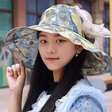 Eeayyygch Sombrero de Mujer Ms Cap Retro Flores Sombrero para el Sol  Sombrero de Playa magnífico 6a7139269ea