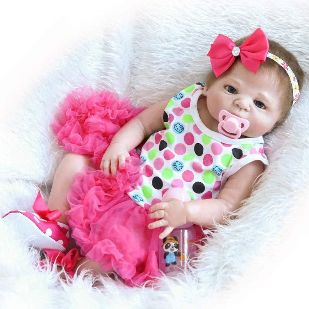 MuñEcas Reborn Baby Girl, SimulacióN De 22 Pulgadas Hechas A Mano Realistas MuñEcas Reborn De Silicona Suave Lindo Juguete Regalo De CumpleañOs