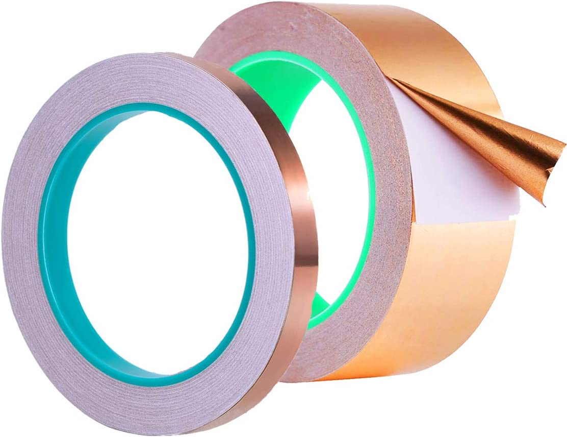 1//4inch /& 1inch Zehhe Copper Foil Tape with Double-Sided Conductive