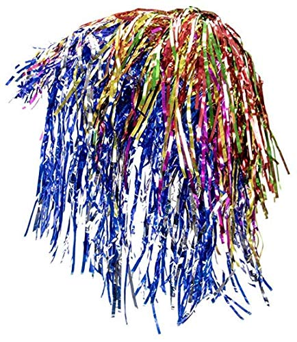12 Pack of Glam Tinsel Party Wigs Halloween Costume Accessory - Dress Up Theme Party Roleplay & Cosplay Headwear Wig for Adults or Children ()