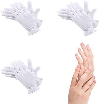Doux et Confortable Play-tec Bisou Dermatologiques Blanc Gants Coton