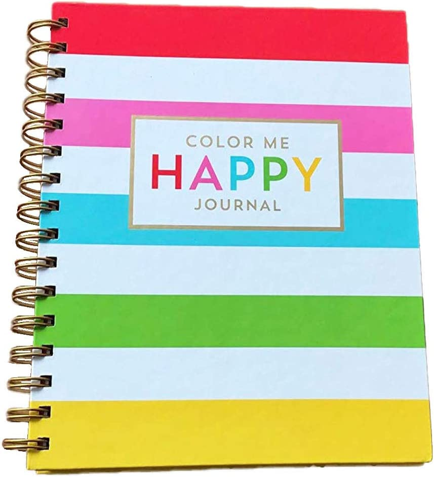 Color Me Happy Spiral Journal: Inspiration for Happiness, Strength, Creativity, Serenity and Dreaming for Brightening The World Around You