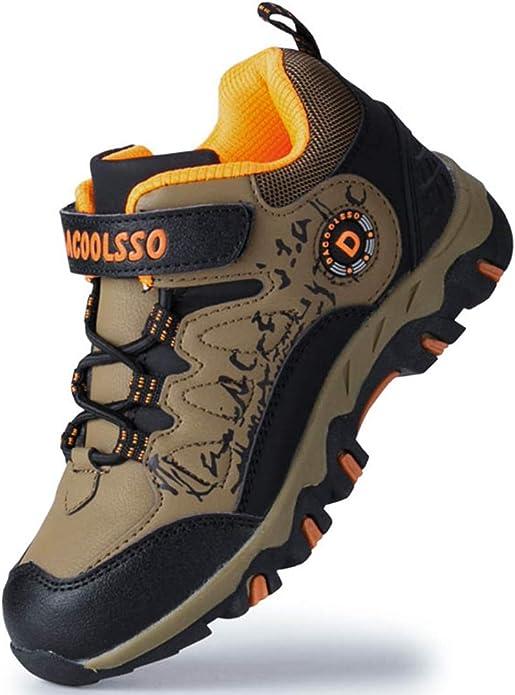 DADAWEN Boy's Girl's Running Shoes Waterproof Outdoor Hiking Athletic Sneakers