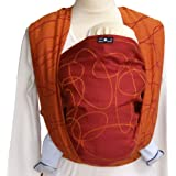 DIDYMOS Woven Wrap Baby Carrier Ellipsen Red (Organic Cotton), Size 7