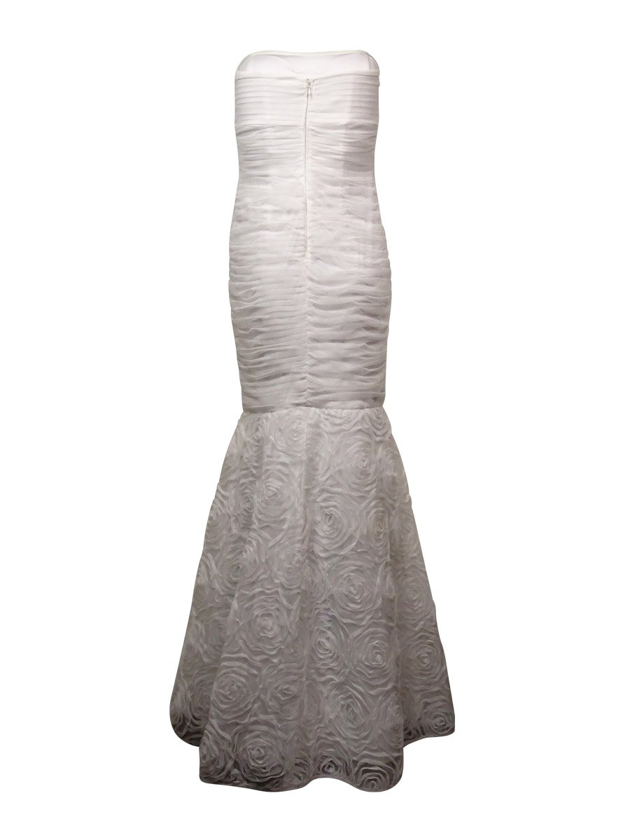 Betsy & Adam Womens Tulle Rosette Evening Dress White 6 by Betsy & Adam (Image #2)
