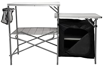 Andes Camping Field Kitchen Worktop Table Stand With Cupboard ...