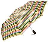 Totes Titan  Super Strong Auto Open Close Compact Umbrella, Foxy Stripe, One Size