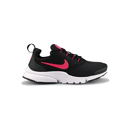 Nike Girls Presto Fly (GS) Running Shoe Black/Rush Pink-White 4Y