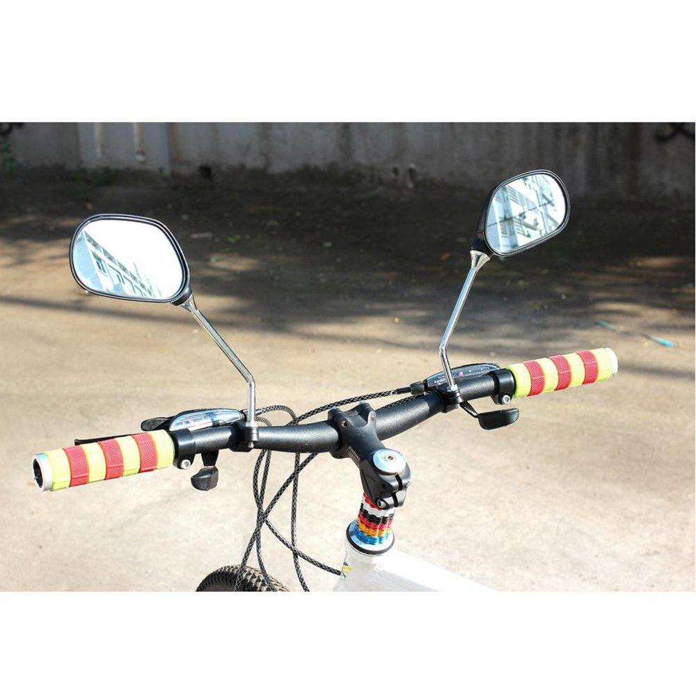 kimo 2 Pcs 360° Rotate Adjustable Universal Handlebar Rear View Mirror For Bike Bicycle Cycling Black by kimo (Image #8)