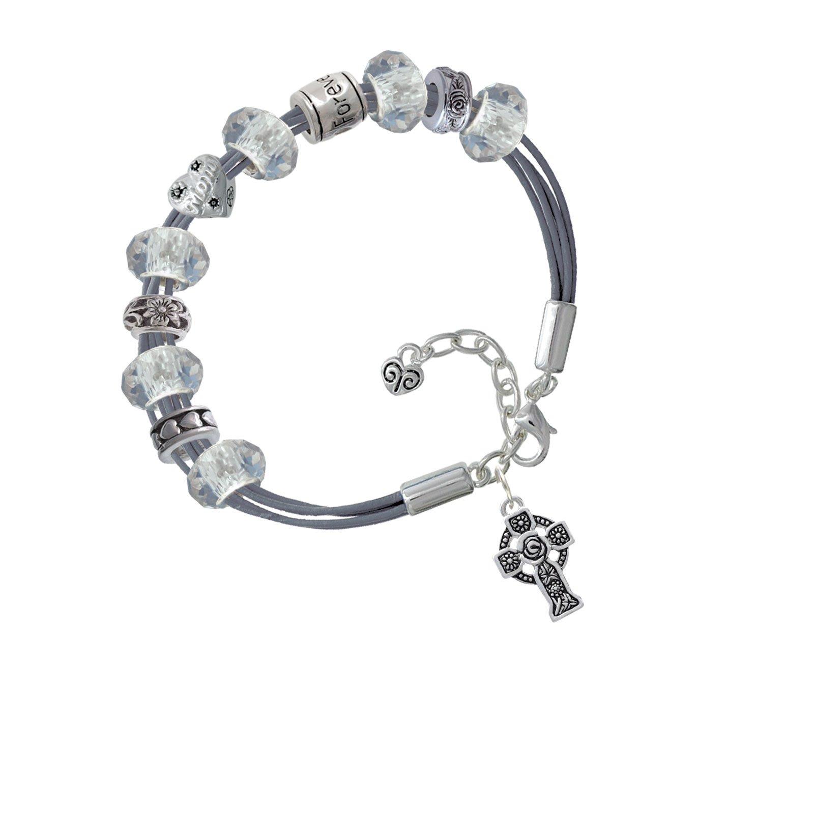 Large Celtic Cross Love Forever Mothers Day Bracelet